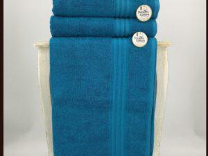 מגבת חלקה טורקיז