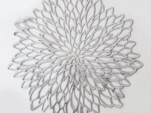 פלייסמט PVC פרח סילבר