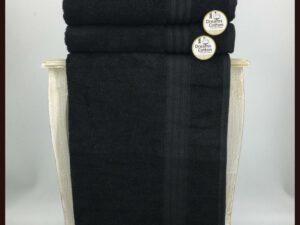 מגבת חלקה שחורה